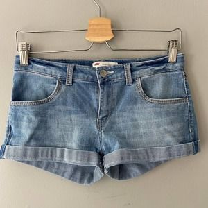 Levi's Girl's Thick Stitch Shorty Short Light Wash